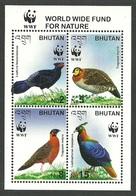 BHUTAN 2003 WWF BIRDS PHEASANTS ENDANGERED SPECIES M/SHEET MNH - Bhutan