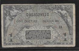 Etats Unis - Military Payment Certificate - 1 Dollar  - Pick N° M26 - TB - 1951-1954 - Serie 481