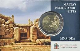 MALTA 2 Euro Commemorative 2018 - Temples Of Mnajdra - COINCARD - Malta