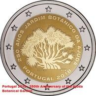 PORTOGALLO - 2 Euro 2018 - 250 Anni Del Giardino Botanico Di Ajuda - UNC - Portugal