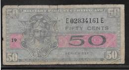 Etats Unis - Military Payment Certificate - 50 Cents  - Pick N° M32 - B/TB - 1954-1958 - Reeksen 521