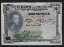 Espagne - 100 Pesetas  - Pick N° 69 - TB - [ 1] …-1931 : Eerste Biljeten (Banco De España)