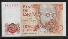 Espagne - 200 Pesetas  - Pick N° 156 - SPL - [ 4] 1975-… : Juan Carlos I