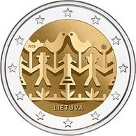 LITUANIA - 2 Euro 2018 - Festival Della Canzone E Della Danza - UNC - Lituania