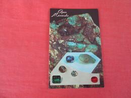 Gem Minerals Diamond Emerald Sapphire  O- Ref 3052 - Postcards