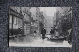 PARIS - Inondations De Janvier 1910 : Sauvetage Place MAUBERT , ( 5 ème Arrondissement ) - Arrondissement: 05