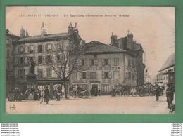 C.P.A  DE  AURILLAC  -- FONTAINE DES DROITS DE L ' HOMME .   AMINEE ---- - Aurillac