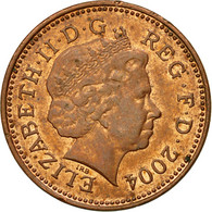 Monnaie, Grande-Bretagne, Elizabeth II, Penny, 2004, TTB, Copper Plated Steel - 1971-… : Monnaies Décimales