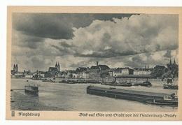 CPA , Allemagne , N° 14, Magdeburg , Blid Auf Elbe Otadt  Von Der ... , Serie L/1014, Ed. C.F. - Magdeburg