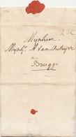 177/27 - Lettre Précurseur 1810 Vers BRUGES - Courrier Familial Par Messager HORS POSTE - A Payer 2 1/2 Sols - 1794-1814 (Période Française)