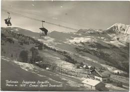 X3975 Valsesia (Vercelli) - Seggiovia Scopello Mera - Campi Sport Invernali - Panorama / Viaggiata 1958 - Italië
