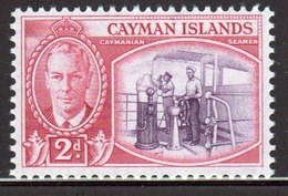 Cayman Islands 1950 George VI 2d Reddish Violet And Rose Carmine Single Definitive Stamp. - Cayman Islands
