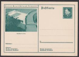 """Waldbad Leuna Deutsches Reich Bild-Postkarte Ungebraucht 6 Pf. Fr. Ebert """"Lernt Deutschland Kennen"""" - Deutschland"""