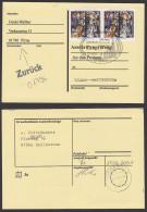Katholische Hofkirche Zu Dresden SoSt. Mit Marken 80+40 Pf Weihnachten 1995 Auf Anschriftenprüfungskarte, BRD 1831(2) - [7] Federal Republic