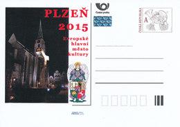 Rep. Ceca / Cart. Postali (Pre2011/51) Capitale Europea Della Cultura PLZEN 2015, Piazza - Fontana, Angelo - Idee Europee