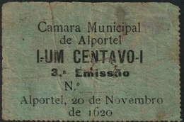 CÉDULA VALE DE 1 CENTAVO -20 DE NOVEMBRO DE 1620-(NOVE INVERTIDO)-CÂMARA MUNICIPAL DE ALPORTEL - Portugal