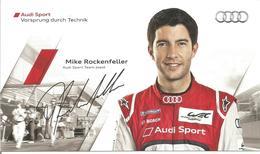 AUDI SPORT TEAM JOEST ( AUDI R18 ULTRA ) Dédicacée Par Mike ROCKENFELLER - 24 HEURES DU MANS 2012 - Autographes