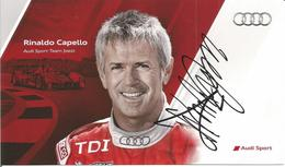 AUDI SPORT TEAM JOEST ( AUDI R15 TDI ) Dédicacée Par Rinaldo CAPELLO - 1000 KM De SPA 2010 - Autographes