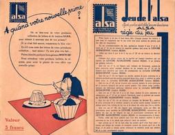 """Jeu De L'Alsa, Offert Par La Levure Alsacienne. Jeu Type """"Jeu Le L'oie"""" - Non Classés"""