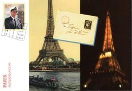 NORVEGE  PHILEXFRANCE99  Carte Postale   Timbre KING OLAV V  3.70   Oblitéré En Poste Norvégienne - Postzegels (afbeeldingen)