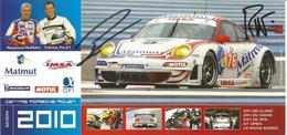 IMSA PERFORMANCE MATMUT ( PORSCHE 911 GT3 RSR ) Dédicacée Par Les Pilotes - 1000 KM De SPA 2010 - Authographs