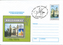 Romania Postal Stationery Cover With Special Cachet And Postmark ISAAC STERN VIOLONIST 28-12-2000 - 1948-.... Républiques