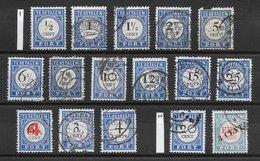 Pays-Bas Taxe N°13 à 24 (5c Non Cpt, Série Complète) &  N°40 à 43 1894-1910 O - Taxes