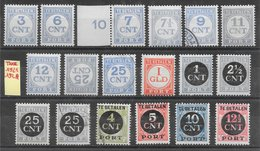 Pays-Bas Taxe N°61 à 76 (séries Complètes) 1921-24 * & O - Tasse