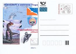 Rep. Ceca / Cart. Postali (Pre2011/57) Dinosauri Dell'isola Vega (2) Cryolophosaurus Ellioti - Isole