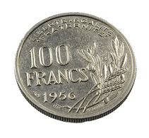 100 Francs   - Cochet - France - 1956 B -  Cupro Nickel - TTB - N. 100 Franchi