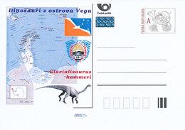 Rep. Ceca / Cart. Postali (Pre2011/58) Dinosauri Dell'isola Vega (3) Glacialisaurus Hammeri - Filatelia Polare