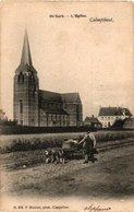 1905 , CALMPTHOUT- DE KERK - HOELEN 676 - Timmerman Met 3 Honden Om Kar Met Werk  Gerief  Te Trekken Attelage - Kalmthout