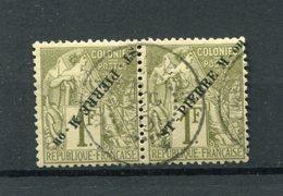 !!! PRIX FIXE : SAINT PIERRE ET MIQUELON, PAIRE N°30/30A OBLITEREE, SIGNEE CALVES. RR - Used Stamps