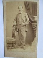 Photographie Ancienne CDV - Albumen Vintage Photo - Homme - Epoque Napoléon III - Photo L. Chamussy, Chambéry - BE - Photographs