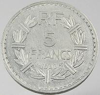 5 Francs   - Lavrilliers  - France - 1946 C -  Alu - TTB - France