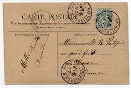 """1906-tp 5C Type Blanc Seul Sur Carte Paris Animée """"Champs Elysées""""-attelages---Beau Cachet PARIS  118 - Postmark Collection (Covers)"""