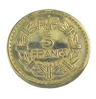 5 Francs   - Lavrilliers  - France - 1946 -  Cu.Alu - TB+ - France