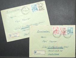 Yugoslavia - Registered Cover Lot (2) To Germany Car Train 1953 Oberhausen - Sterkrade Titovo Uzice Sevojno - Briefe U. Dokumente