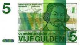 NETHERLANDS 5 GULDEN GREEN MAN  FRONT&MOTIF BACK 28-03-1973 P95a READ DESCRIPTION!! - [2] 1815-… : Koninkrijk Der Verenigde Nederlanden