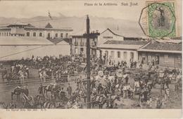 Cachet Bordeaux A Colon L D N°4 Sur  CPA Costa Rica 1906 - Posta Marittima