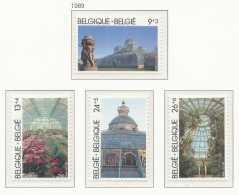 NB- [152927] **/Mnh-[2340/43] Belgique 1989, Les Serres Royales De Laeken, Architecte Alphonse Balat, Fleurs, SC, SNC - Végétaux