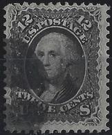 Etats Unis N°23  12 Cents Gris/noir  Très FraisTTB - Oblitérés