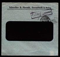 A5597) DR Infla Brief Barfrankatur Gernsbach 29.8.23 Seltener Stempel - Deutschland