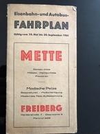 DEPLIANT ALLEMAGNE Karl-Marx-Stadt Pour Dresdes Via Freiberg 1961 DDR RDA - Europa