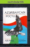 Nev052 FAUNA ROOFVOGELS ADELAAR EAGLE BIRDS OF PREY GREIFVÖGEL RAUBVÖGEL AVES OISEAUX AZERBAYCAN 1995 PF/MNH - Adler & Greifvögel