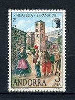 ANDORRE ESP 1966 N° 88 ** Neuf MNH Superbe EUROPA Exposition Philatélique Facteur Du 19eme Siècle - Neufs