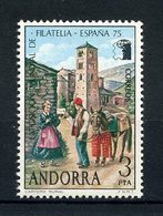 ANDORRE ESP 1966 N° 88 ** Neuf MNH Superbe EUROPA Exposition Philatélique Facteur Du 19eme Siècle - Spanish Andorra