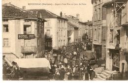 Cp 43 Retournac - Aspect D Une Rune Un Jour De Foire - Retournac