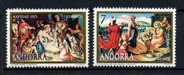 ANDORRE ESP 1966 N° 92/93 ** Neufs MNH Superbes C 0,90 € Noël Christmas Nativité Peintures Eglise San Marti Cortinada - Spanish Andorra