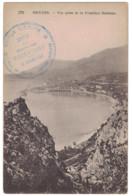 """191? - WW1 CACHET MILITAIRE """" STATION SANITAIRE VILLA LES ROSIERS MENTON GARAVAN """" CP SOCIÉTÉ SECOURS BLESSÉS MILITAIRES - 1876-1898 Sage (Type II)"""